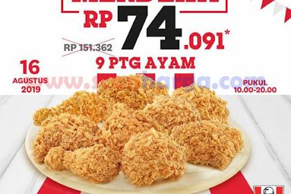 Promo KFC Merdeka Terbaru Periode 16 - 17 Agustus 2019