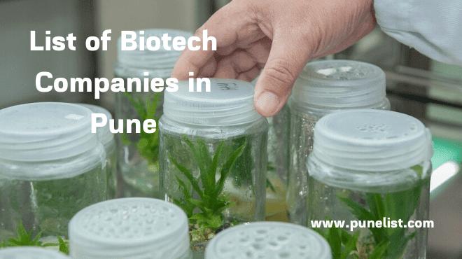 Biotech Companies in Pune