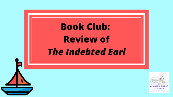 Book Club: Review of The Indebted Earl; sailboat clip art; A Mom's Quest to Teach Logo