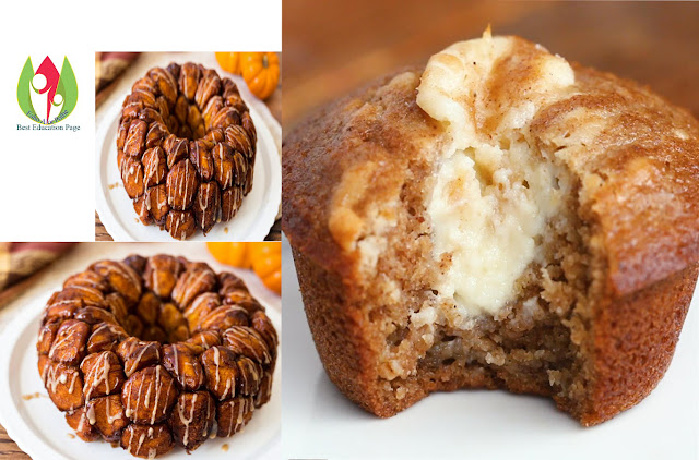 Pumpkin Bread Ring With Maple Cream Cheese Filling #Tasty Food