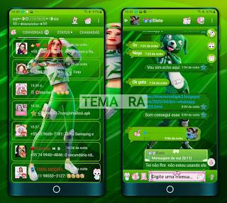 Girl & Dog Theme For YOWhatsApp & Fouad WhatsApp By Diana