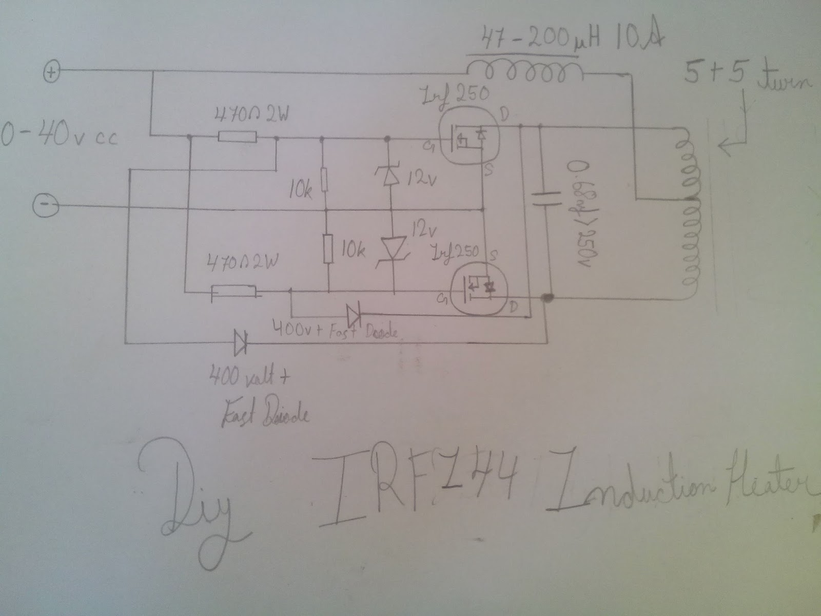 Zvs Induction Heater Heating Diagram The Circuit