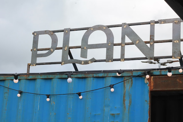 Upcycled 'Plant' sign at Solas