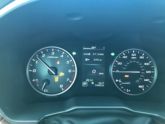 Gauge cluster in 2020 Subaru Outback Touring XT