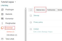 Cara membuat sitemap blog keren di blogspot