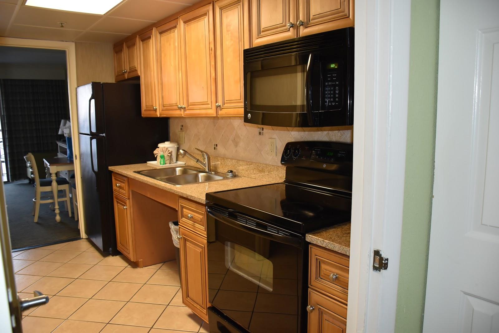 Kitchen in 1 Bedroom Caribbean Resort and Villas in Myrtle Beach