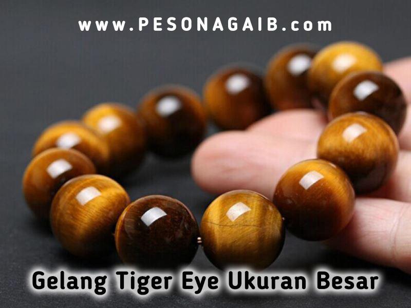gelang tiger eye besar, tiger eye ukuran besar, tiger eye jumbo, gelang ukuran besar, gelang karomah biduri sepah