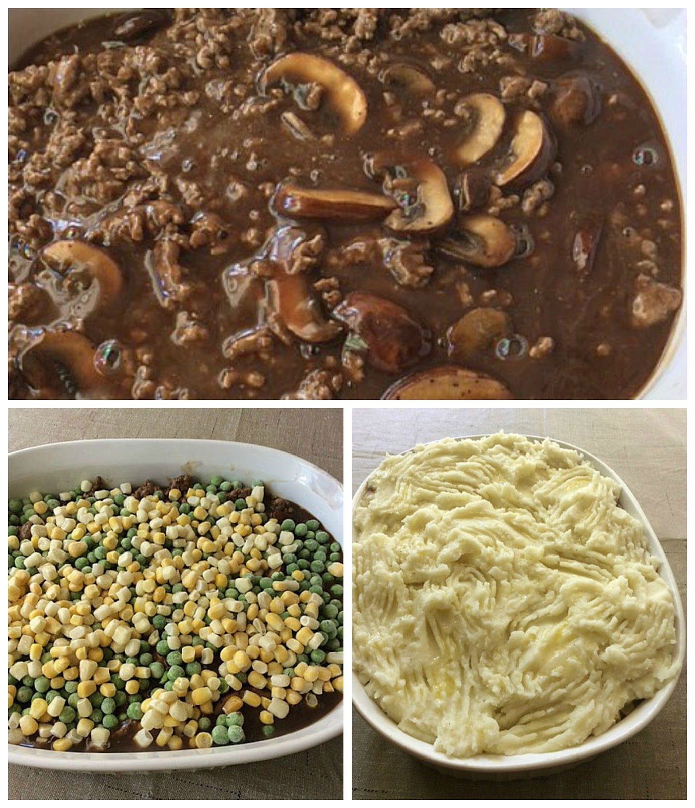 ... : Beef & Mushroom with Sour Cream Mashed Potato Shepherd's Casserole