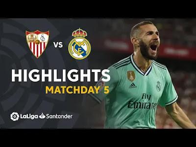 Sevilla vs Real Madrid 0-1 All Goals And Match Highlights [MP4 & HD VIDEO]
