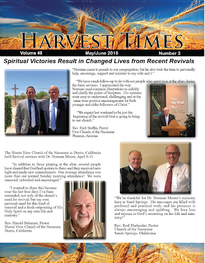 Harvest Times, Volume 40 Number 3, May - June 2018