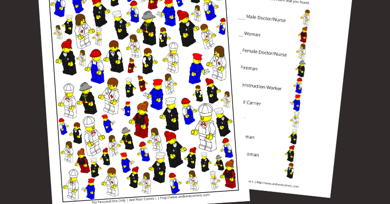 This is a picture of Lego Minifigure Printable pertaining to garland