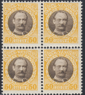 Danish West Indies 1907 50b yellow & brown King Frederick,