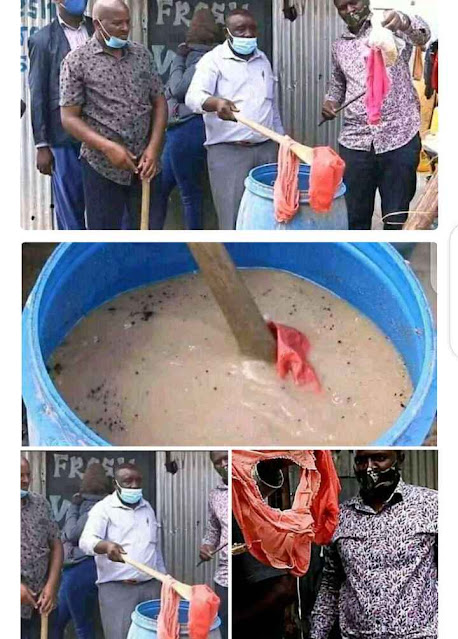 Lady Caught Using Her Used Pants To Make Kunu For People (Photos)