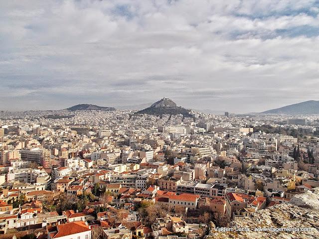 Monte Licabettus, visto da Acrópole