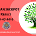 Bhutan Jackpot Result today 31-07-2019, Check Lucky Numbers