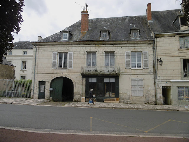 House and former shop on the market place, Preuilly sur Claise. Indre et Loire. France. Photo by Loire Valley Time Travel.