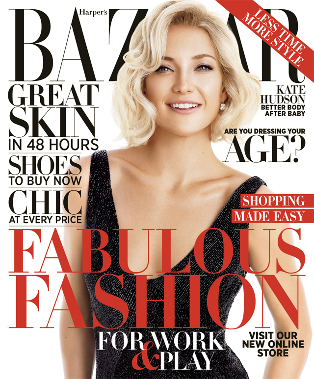 Kate Hudson Harper's Bazaar October 2012