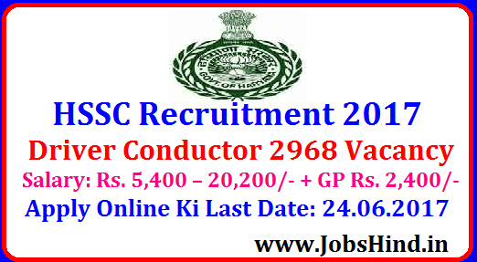 HSSC Recruitment 2017