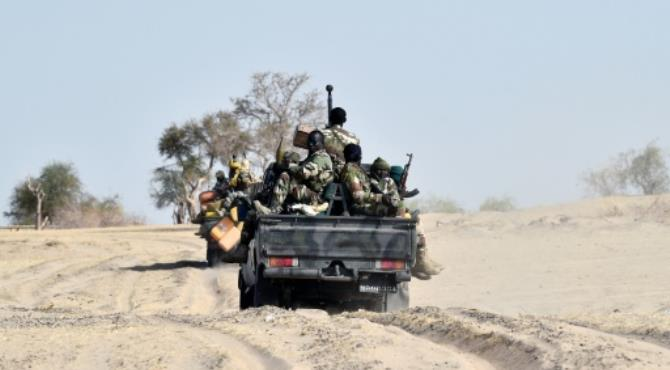 Nigerien soldiers patroling near Bosso, Niger. By Issouf Sanogo (AFP/File). Kano (Nigeria) (AFP) - Boko Haram was on Sunday blamed for an attack on motorists in northeast Nigeria which left one person dead and underlined the Islamist group's continuing security threat to civilians.