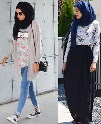 street style hijab terbaru