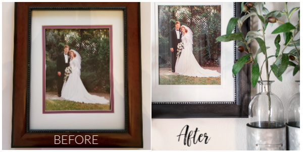 updated wedding picture before and after