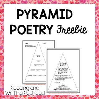 Image of pages from Pyramid Poetry freebie