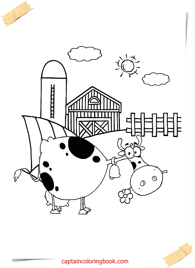 Farm Coloring Pages - Coloring Page