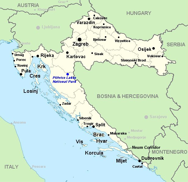 Life Through American Eyes: Maps of Croatia
