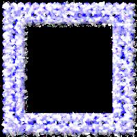 Moldura quadrada azul