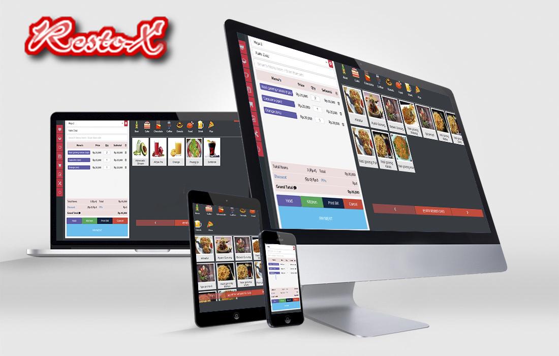 aplikasi kasir restoran website resto cafe resto-x