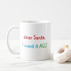 Dear Santa Kids Funny Quote Christmas Milk Coffee Mug