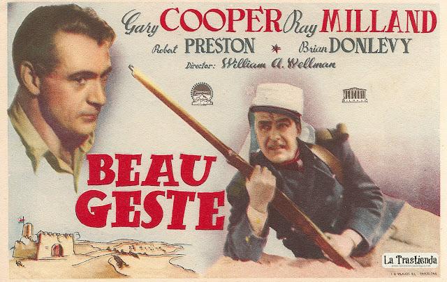 Programa de Cine - Beau Geste (1939) - Gary Cooper - Robert Preston - Ray Milland