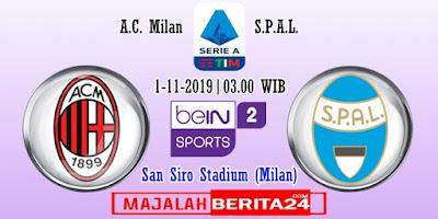 Prediksi AC Milan vs SPAL — 1 November 2019