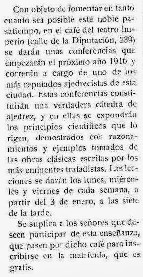 Recorte revista Stadium nº 135 - 25 Diciembre de 1915