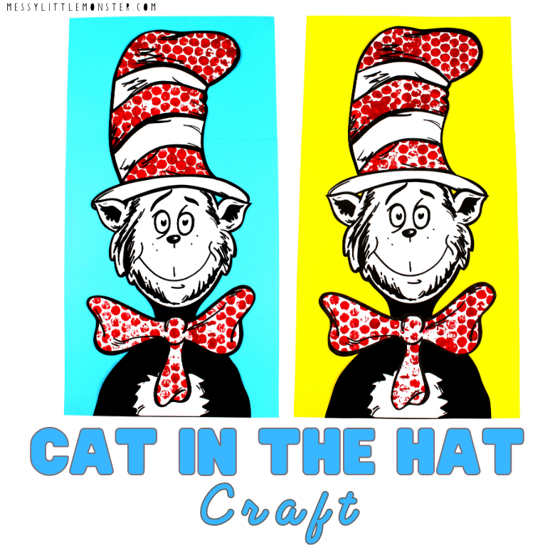 Cat in the Hat Dr Seuss Craft for kids