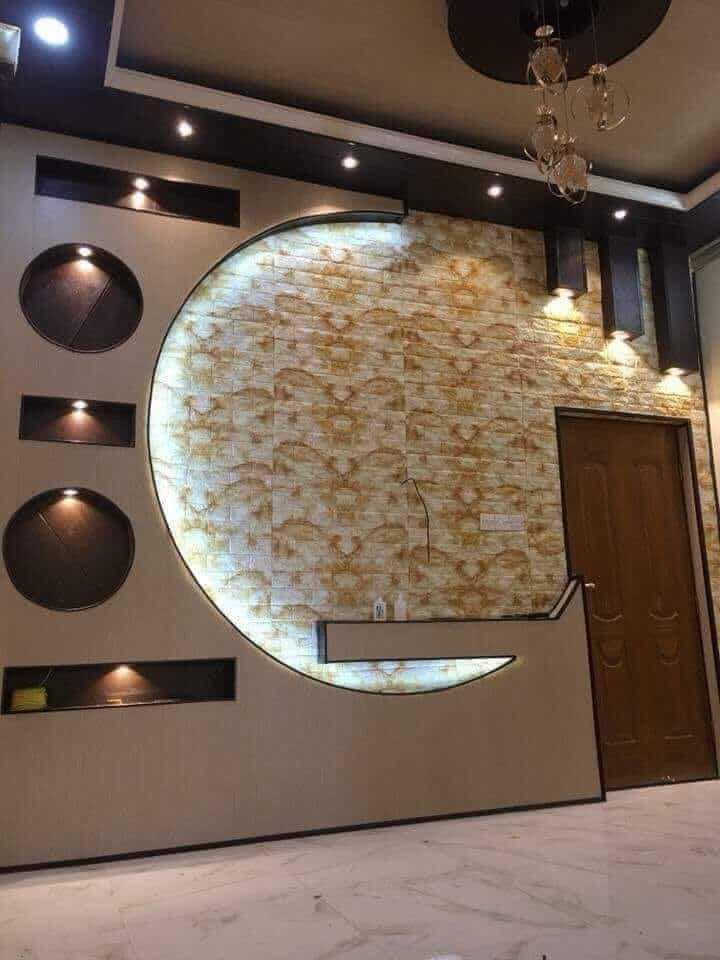 احدث ديكورات شاشات جبس بورد تلفزيونات على الجدران