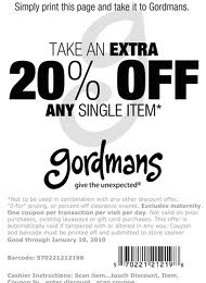 image about Gordmans Printable Coupon named Gordmans Printable Discount coupons May possibly 2018