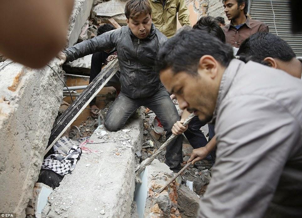 7.8 magnitude potres u Nepalu