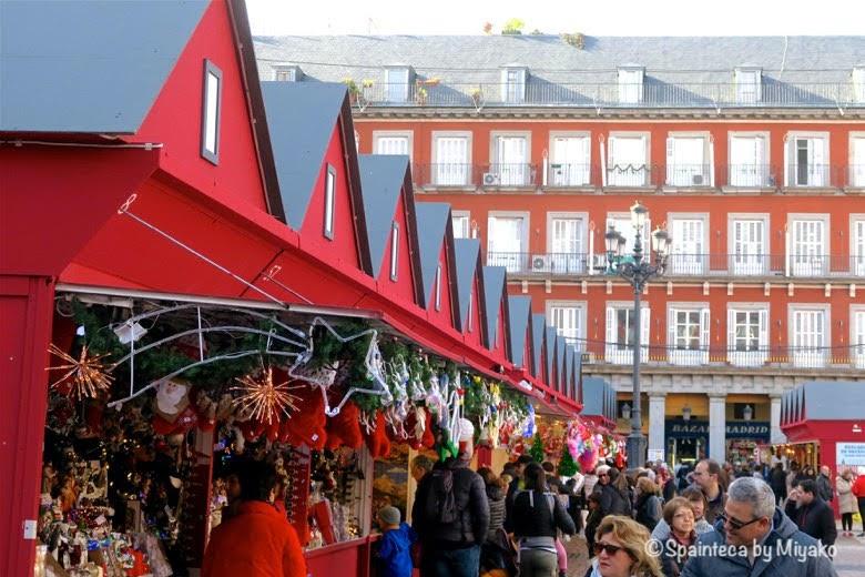 Mercado de Navidad Madrid マドリードのクリスマスマーケットの様子