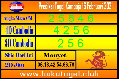 Prediksi Cambodia 16 Februari 2021