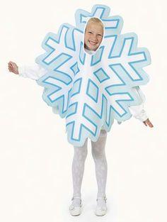 Ideas disfraz de copo de nieve