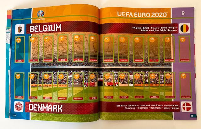 Figurine Euro 2020 in azione