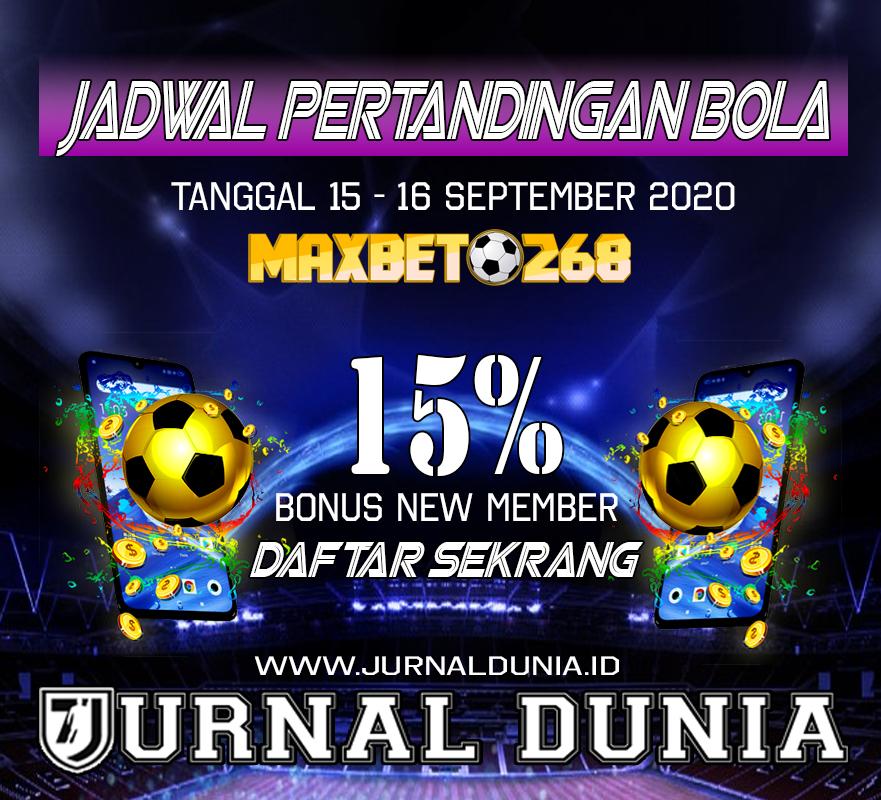 Jadwal Pertandingan Sepakbola Hari Ini, Selasa Tgl 15 - 16 September 2020