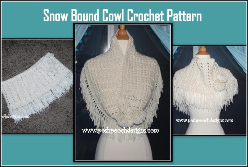 Snow Dog Knitting Pattern Free : Posh Pooch Designs Dog Clothes: Snow Bound Cowl Crochet Pattern Posh Pooch ...