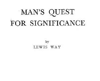 Man's Quest For Significance