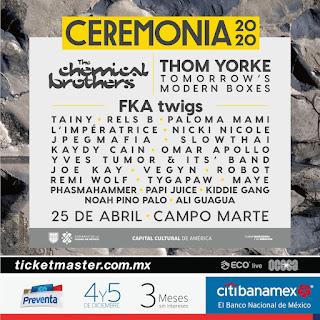 artistas festival ceremonia 2020