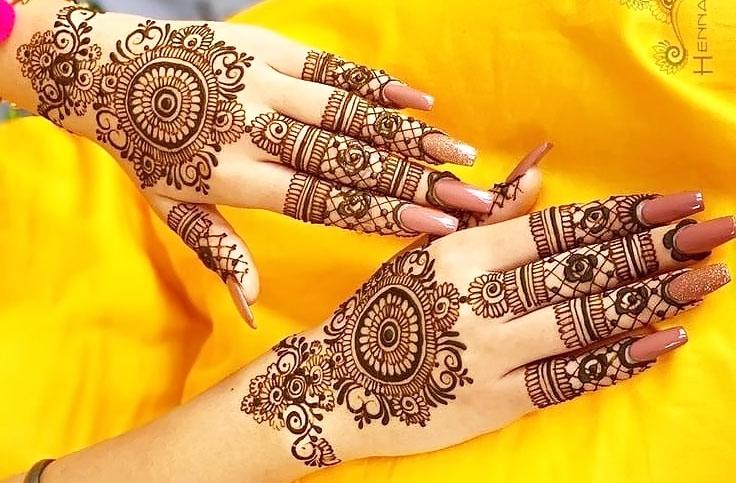 Bridal Jewellery Mehndi Design Image