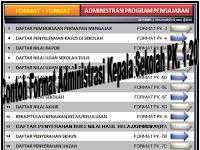Aplikasi Format Administrasi Kepala Sekolah PK.1-20 tahun 2016