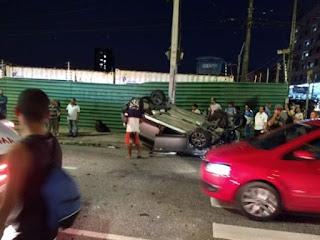 Acidentes deixam 8 pessoas feridas em João Pessoa e na BR-230; Veja vídeo
