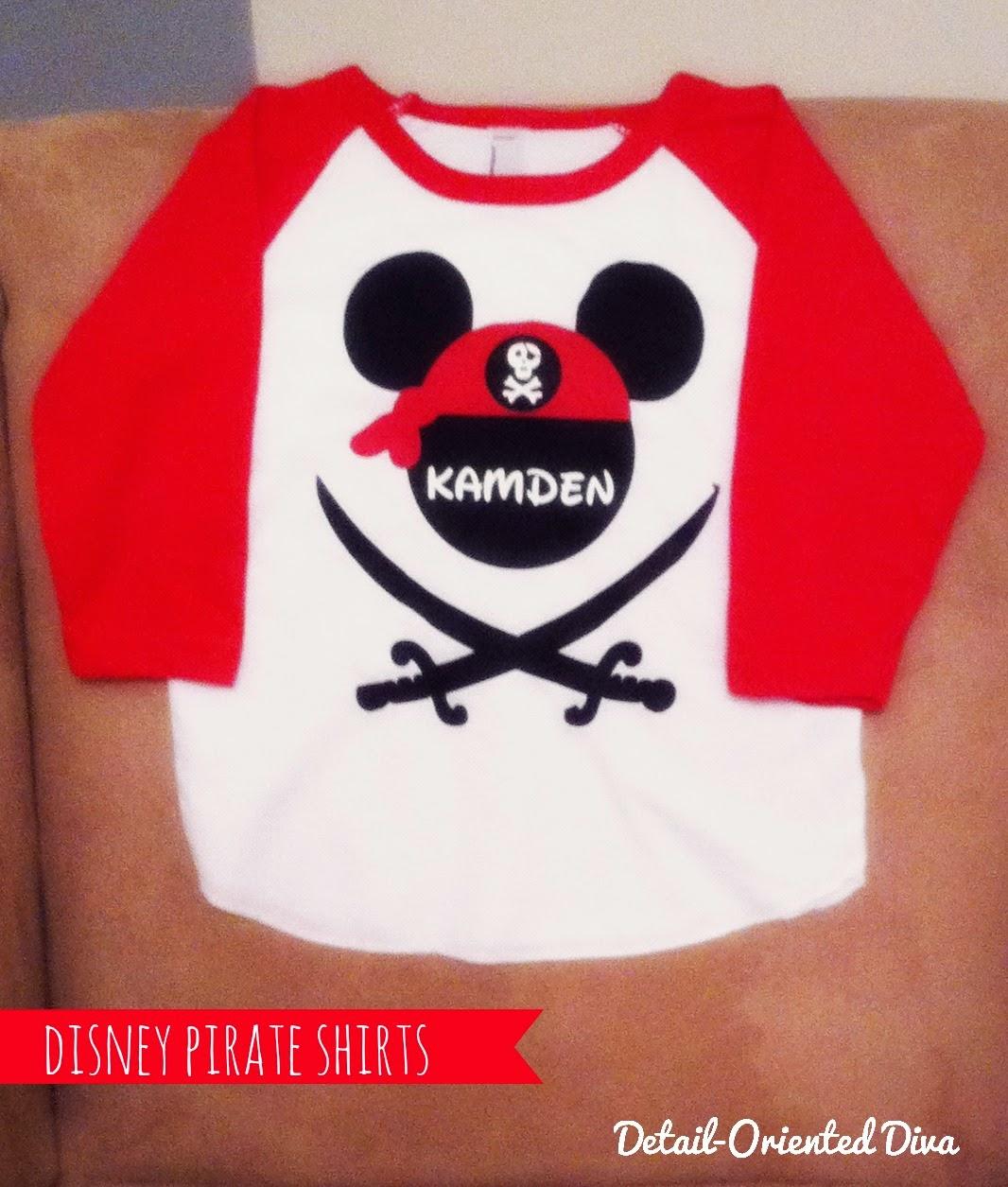 detail oriented diva disney pirate shirts